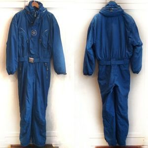Bogner Sports blue winter ski snow suit 38 Long
